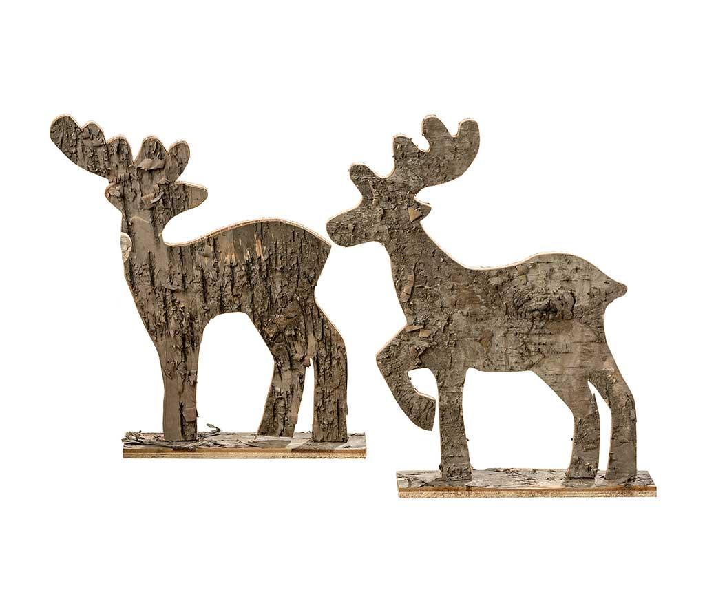 Set 2 decoratiuni Raindeer Benno
