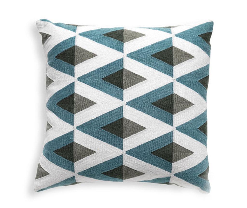 Perna decorativa Geometric 45x45 cm - Tomasucci, Albastru