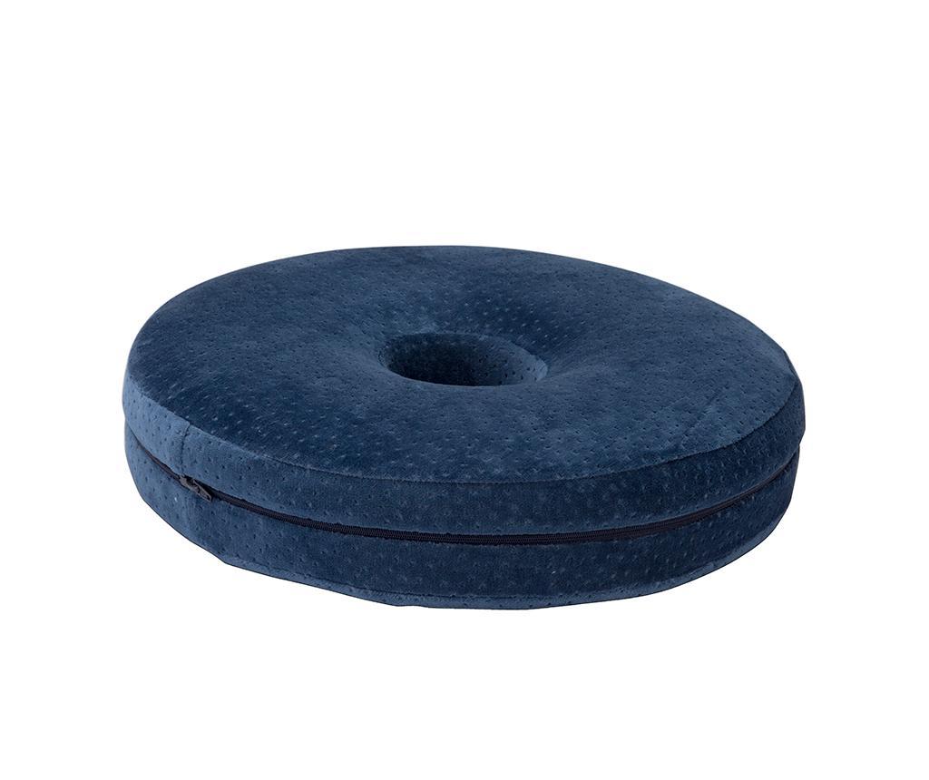 Perna ortopedica de sezut Memory Foam 40 cm - Pikolin, Albastru