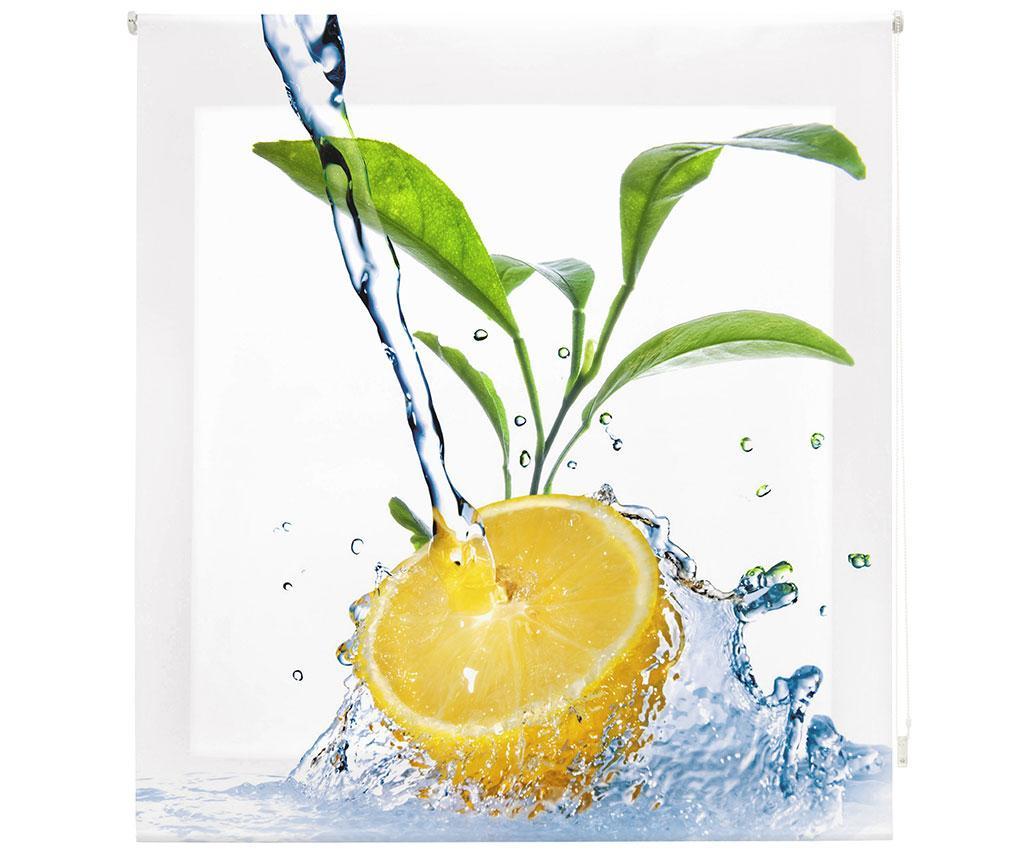 Jaluzea tip rulou Lemon Freshness 160x180 cm - Blindecor, Alb imagine