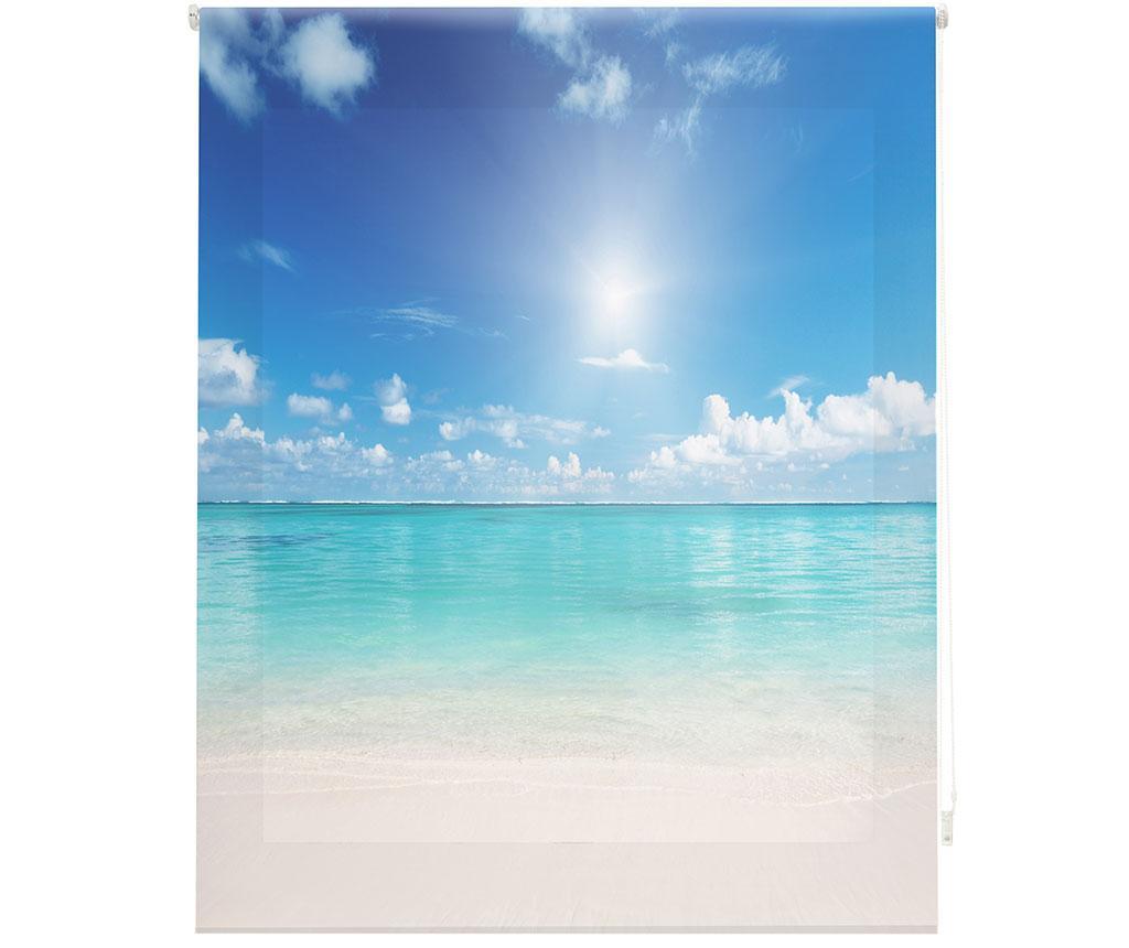 Jaluzea tip rulou Bali Dream 140x180 cm - Blindecor, Albastru imagine