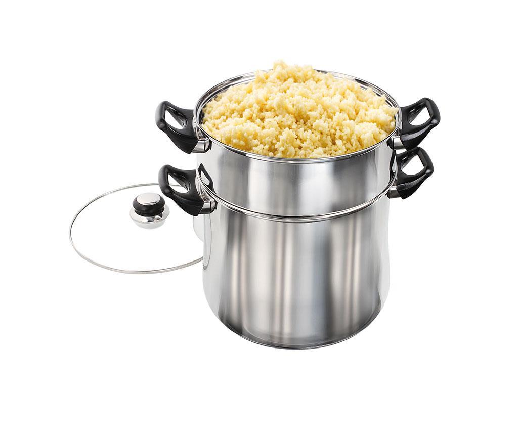 Oala pentru gatit couscous Marakesh 12 L - Kitchen Artist, Gri & Argintiu imagine vivre.ro