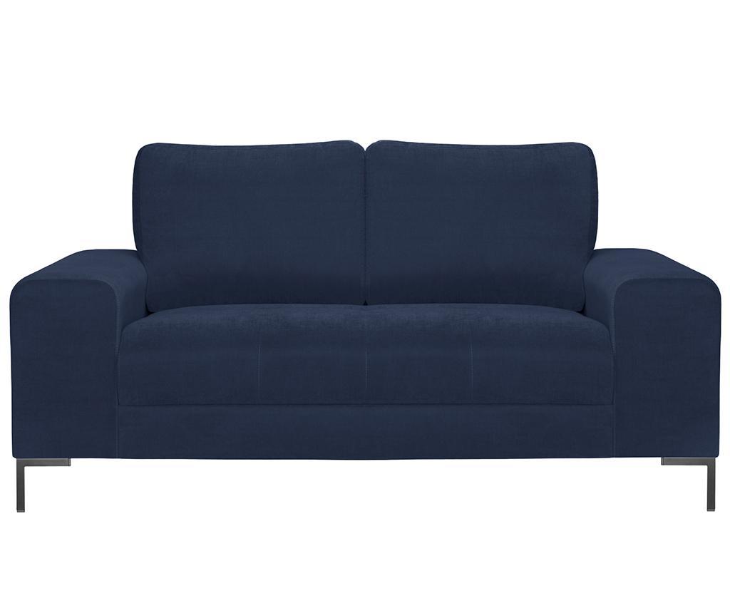 Canapea 2 locuri Harmony Blue - Guy Laroche Home, Albastru imagine