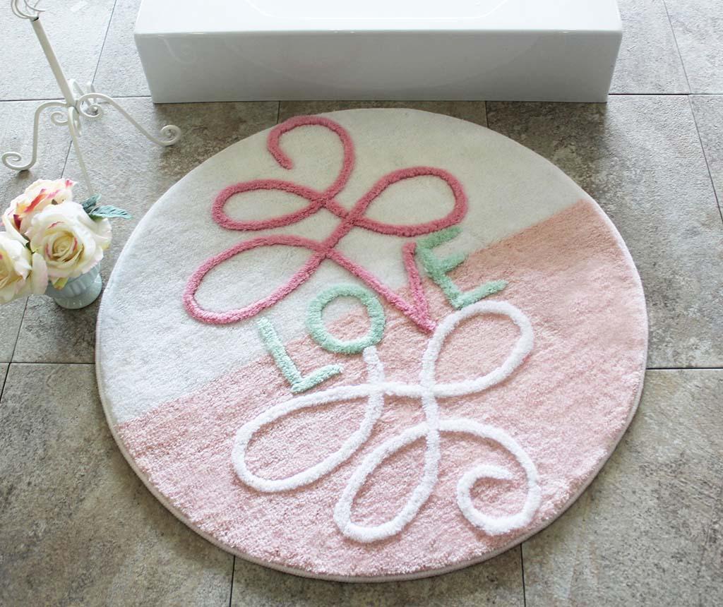 Covoras de baie Era Round Pink 90 cm