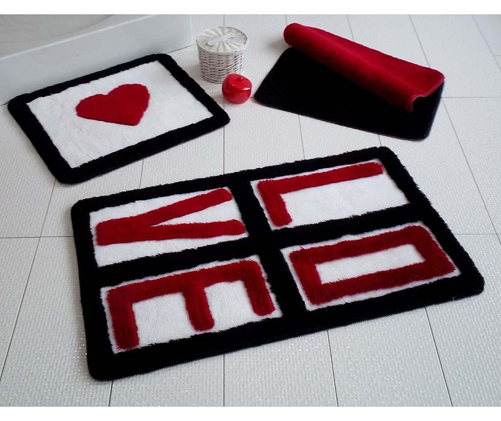 Set 3 covorase de baie Love Red
