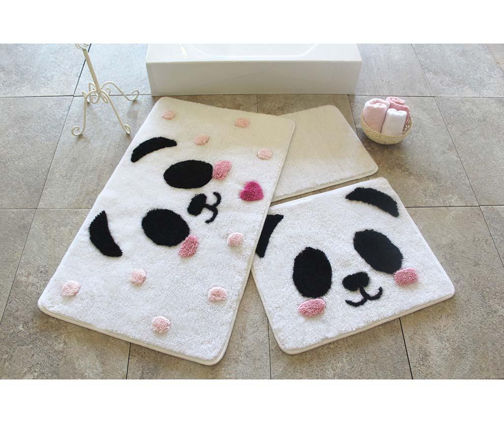 Set 3 covorase de baie Panda - Chilai Home, Alb imagine