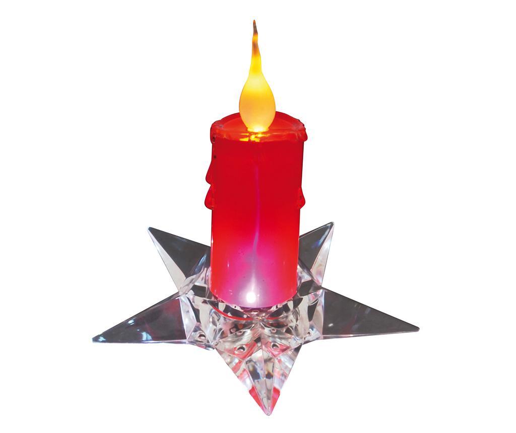 Lumanare cu LED Crimson Red - Näve, Rosu