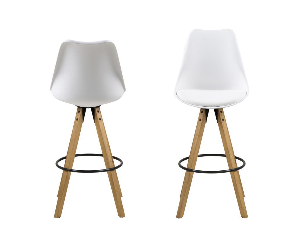 Set 2 scaune de bar Dima White - actona, Alb imagine