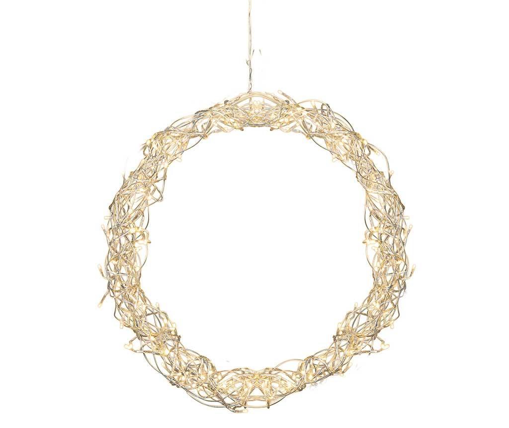 Decoratiune suspendabila luminoasa Curly Wreath imagine
