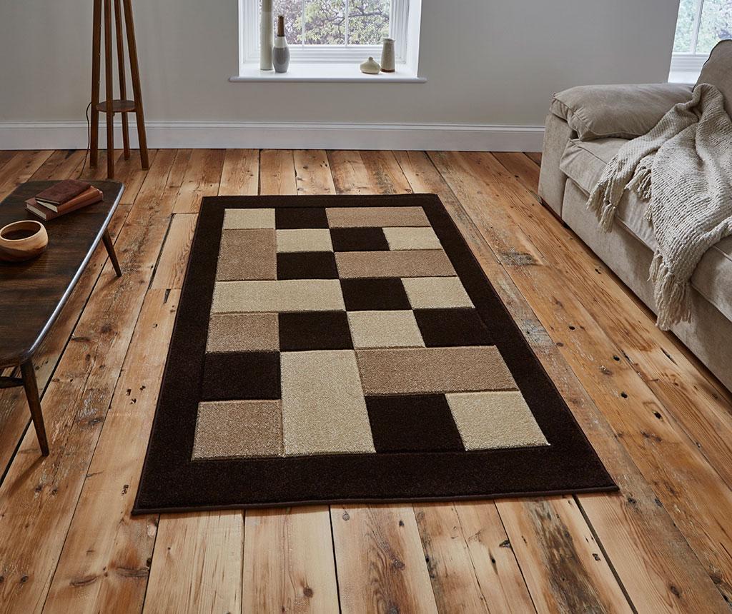 Covor Matrix Brown & Beige 60x120 cm - Think Rugs, Maro