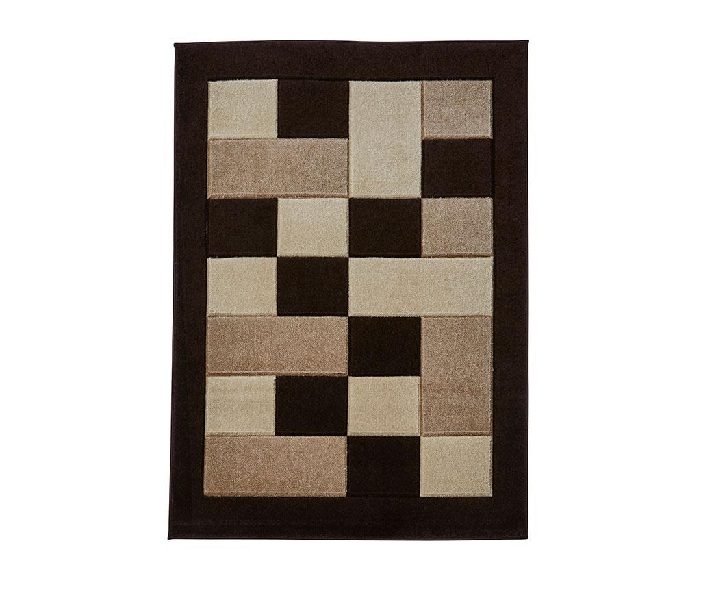Covor Matrix Brown & Beige 80x150 cm - Think Rugs, Maro