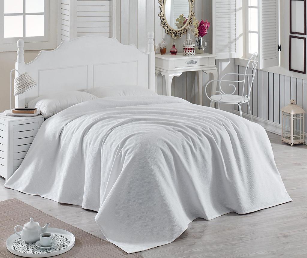 Cuvertura Pique Nature White 200x240 cm - Bella Carine by Esil Home poza