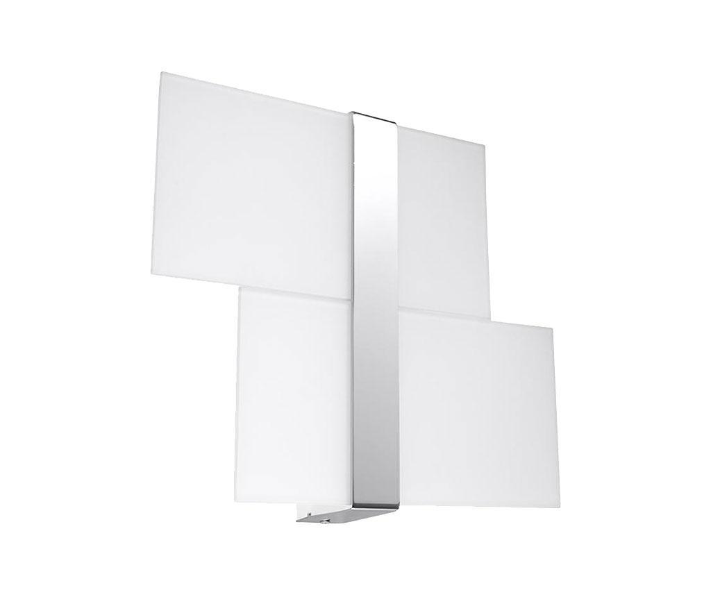 Aplica de perete Leda Duo Silver Grey - Nice Lamps, Gri & Argintiu imagine