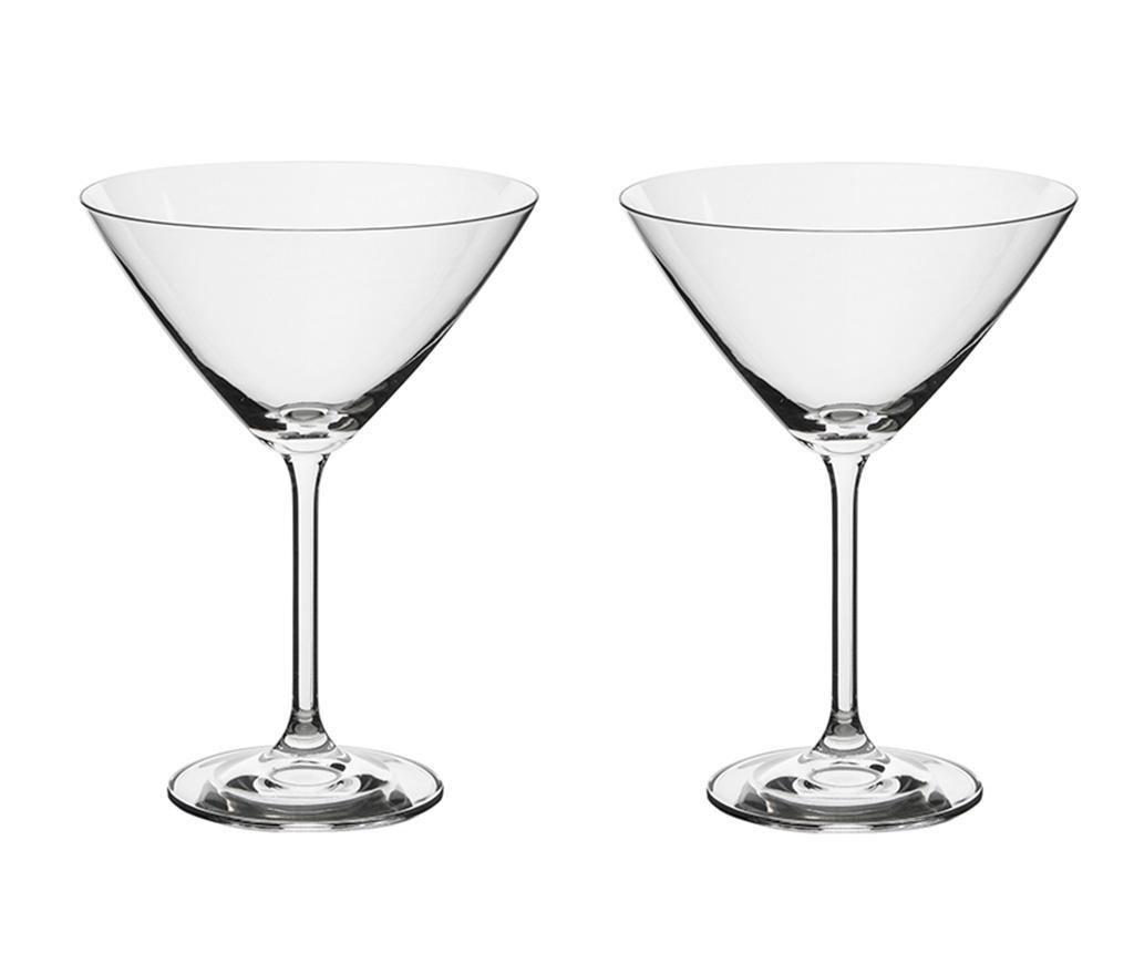 Set 2 pahare pentru martini Bohemia Roya 285 ml