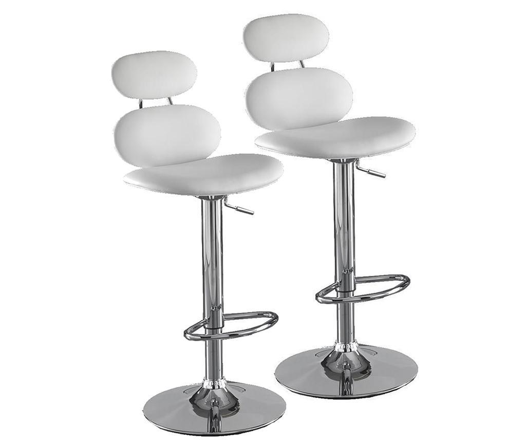 Set 2 scaune de bar Cetus White - Tomasucci, Alb imagine