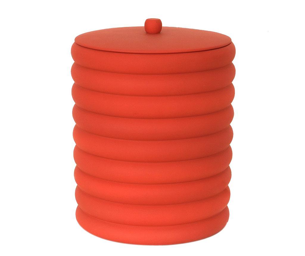 Cos de gunoi cu capac Waves Red 5 L - Irya, Rosu vivre.ro