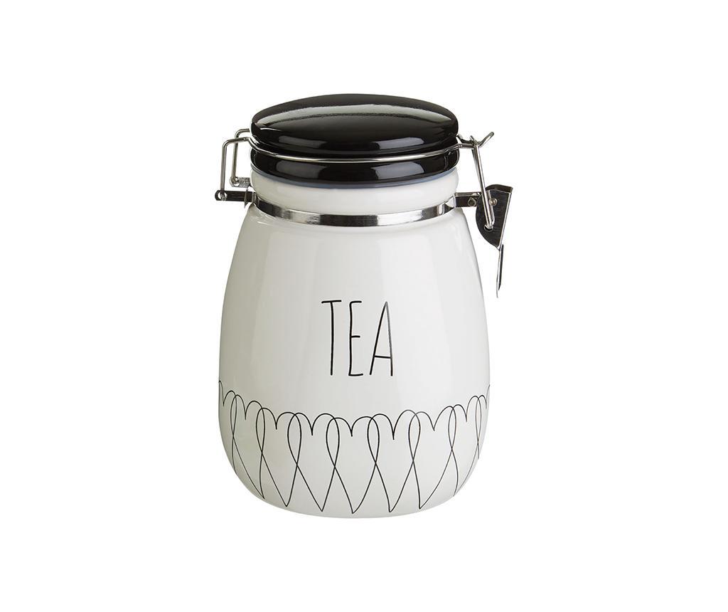 Recipient cu capac pentru ceai Heartlines imagine