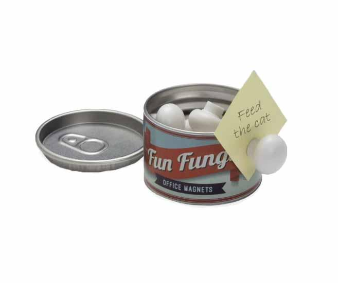 Set 8 magneti cu suport Fun Fungi - Ototo Design, Alb,Gri & Argintiu imagine