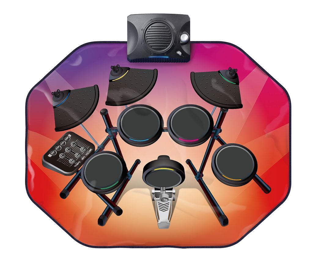 Covor muzical cu activitati Glowing Drum Kit 63x80 cm imagine