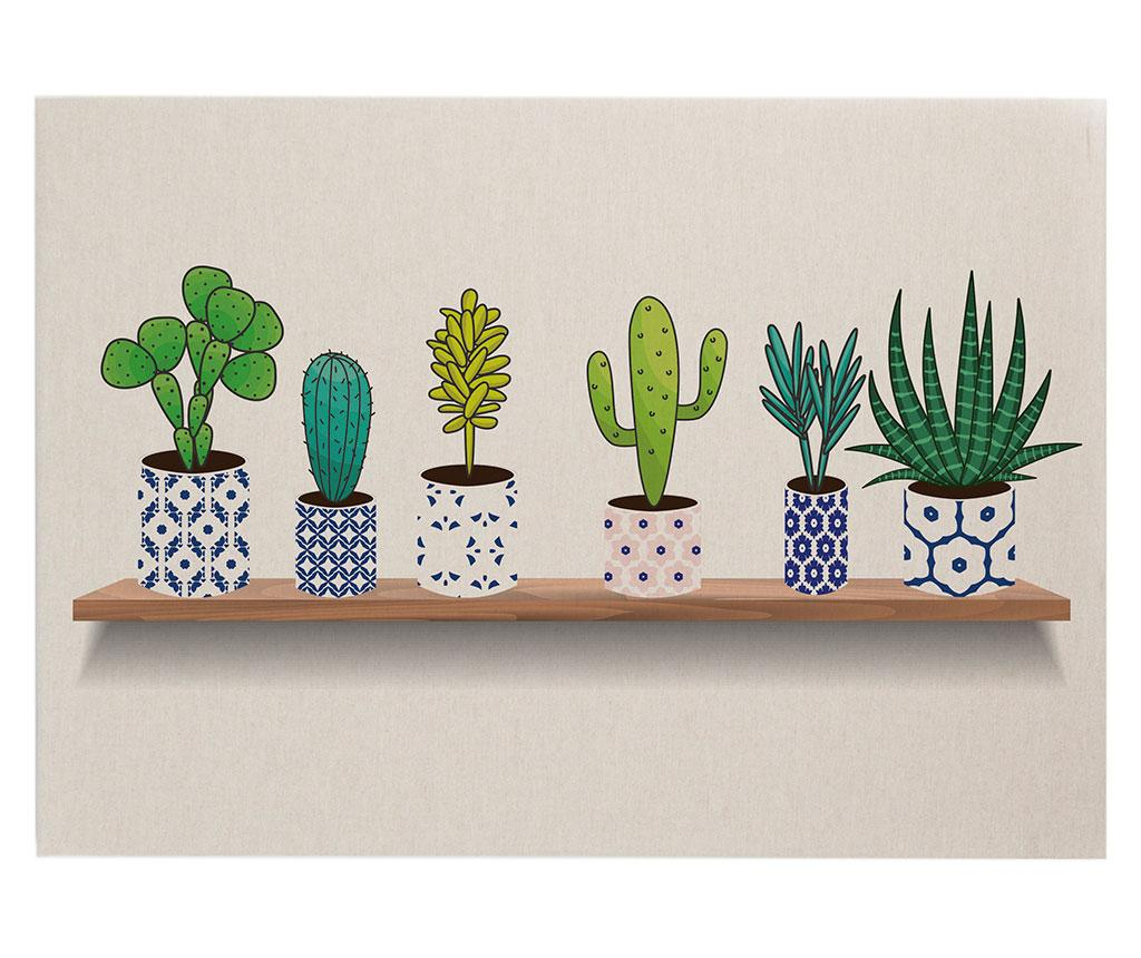 Tablou Cactus Shelve 50x70 cm - Surdic, Crem poza