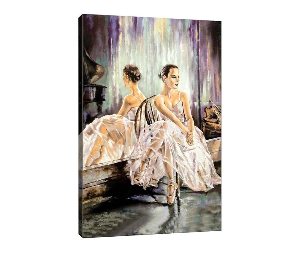 Tablou Ballerina 40x60 cm - Tablo Center, Alb imagine