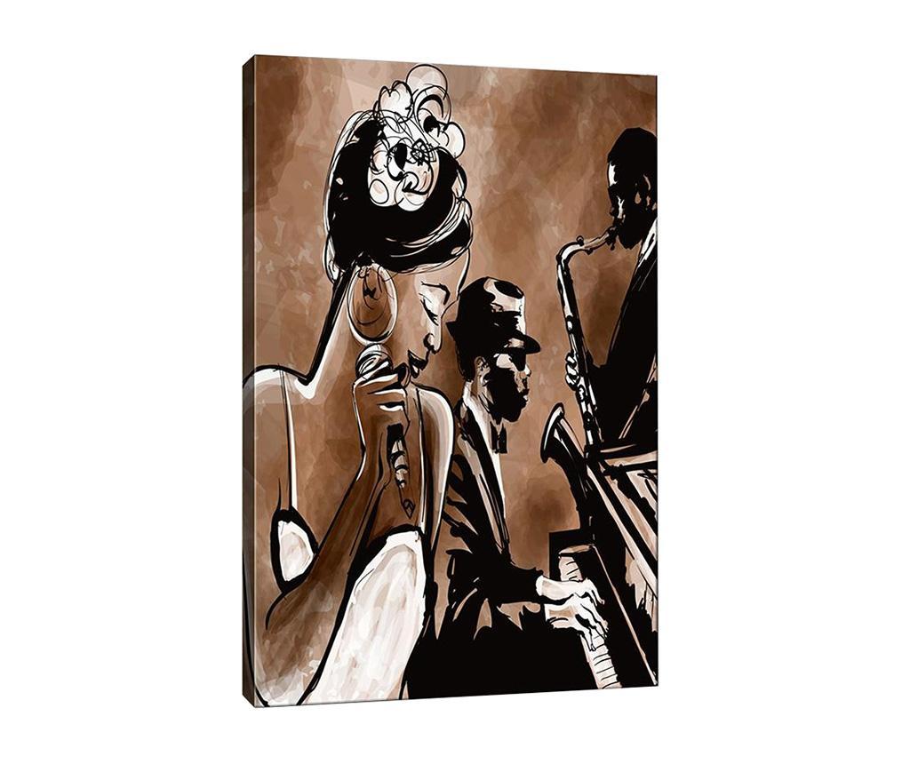 Tablou Nina Jazz 40x60 cm - Tablo Center, Maro,Negru imagine