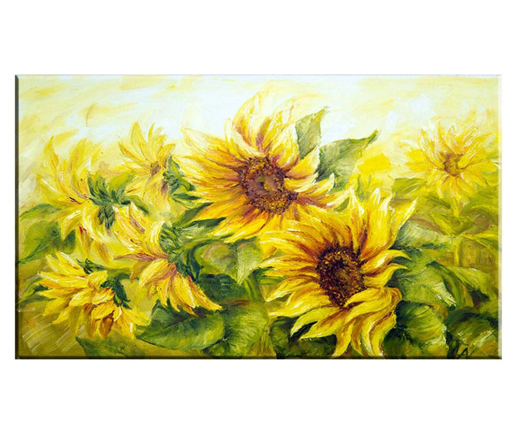 Tablou Sunflower Field 100x140 cm - Tablo Center, Galben & Auriu imagine