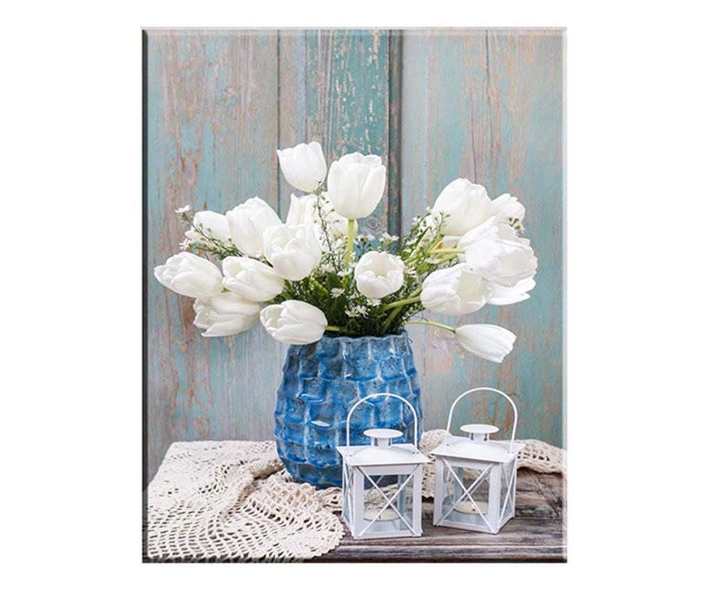 Tablou Tulips Blanco 100x140 cm vivre.ro