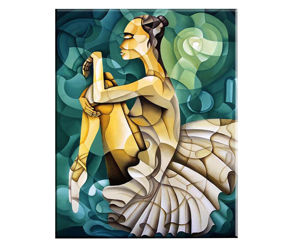 Tablou Geometric Ballerina 100x140 cm - Tablo Center, Albastru imagine