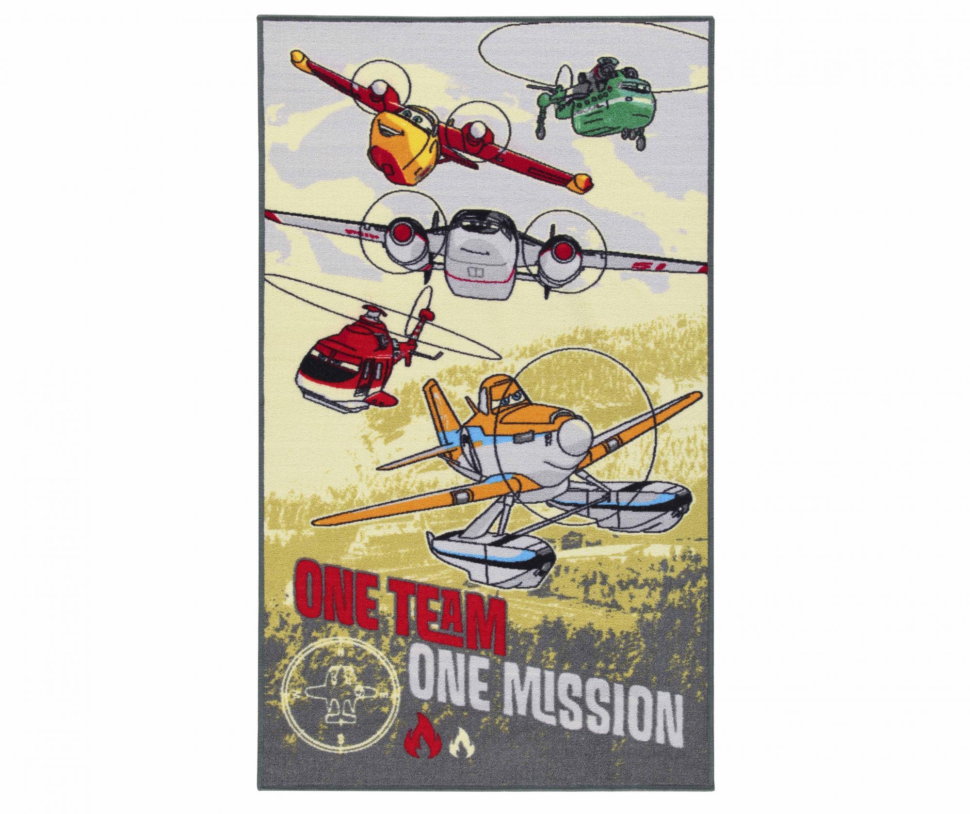 Covor One Team Planes 80x140 cm - Viva, Multicolor imagine