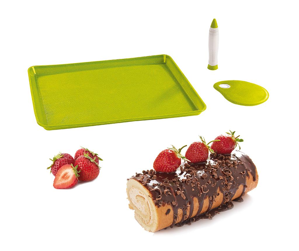 Set pentru prajituri 3 piese Bouchee - Kitchen Artist, Verde poza