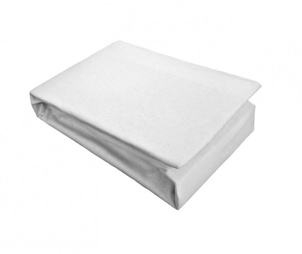 Cearsaf de pat cu elastic Jersey White 100x200 cm