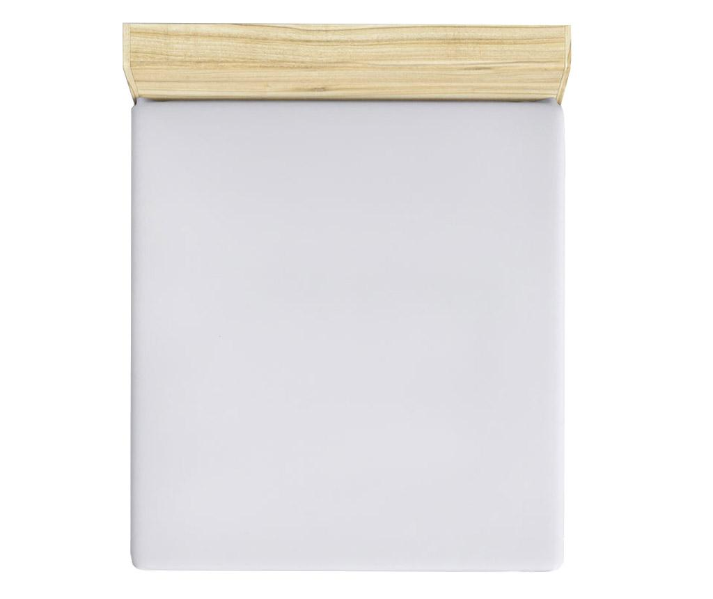 Cearsaf de pat cu elastic Mini White 140x190 cm - Patik, Alb imagine