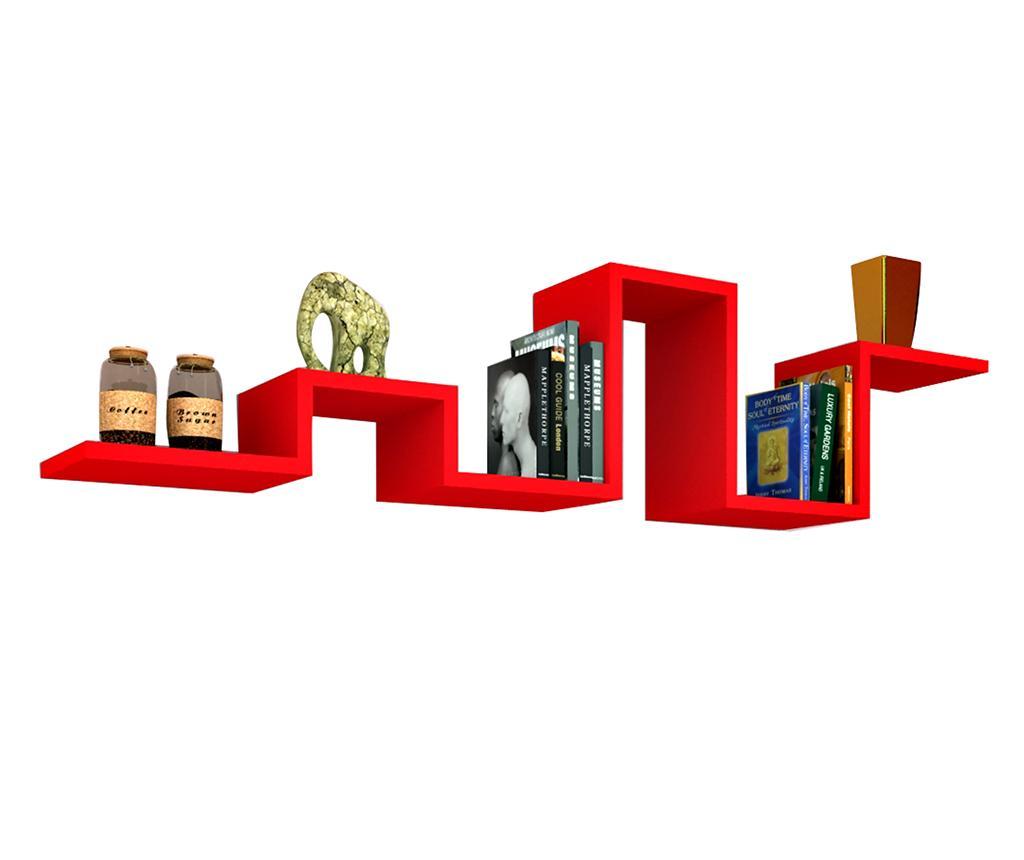 Raft de perete Bumpy Red - Oyo Concept, Rosu poza