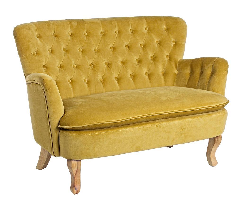 Canapea 2 locuri Orlins Mustard imagine