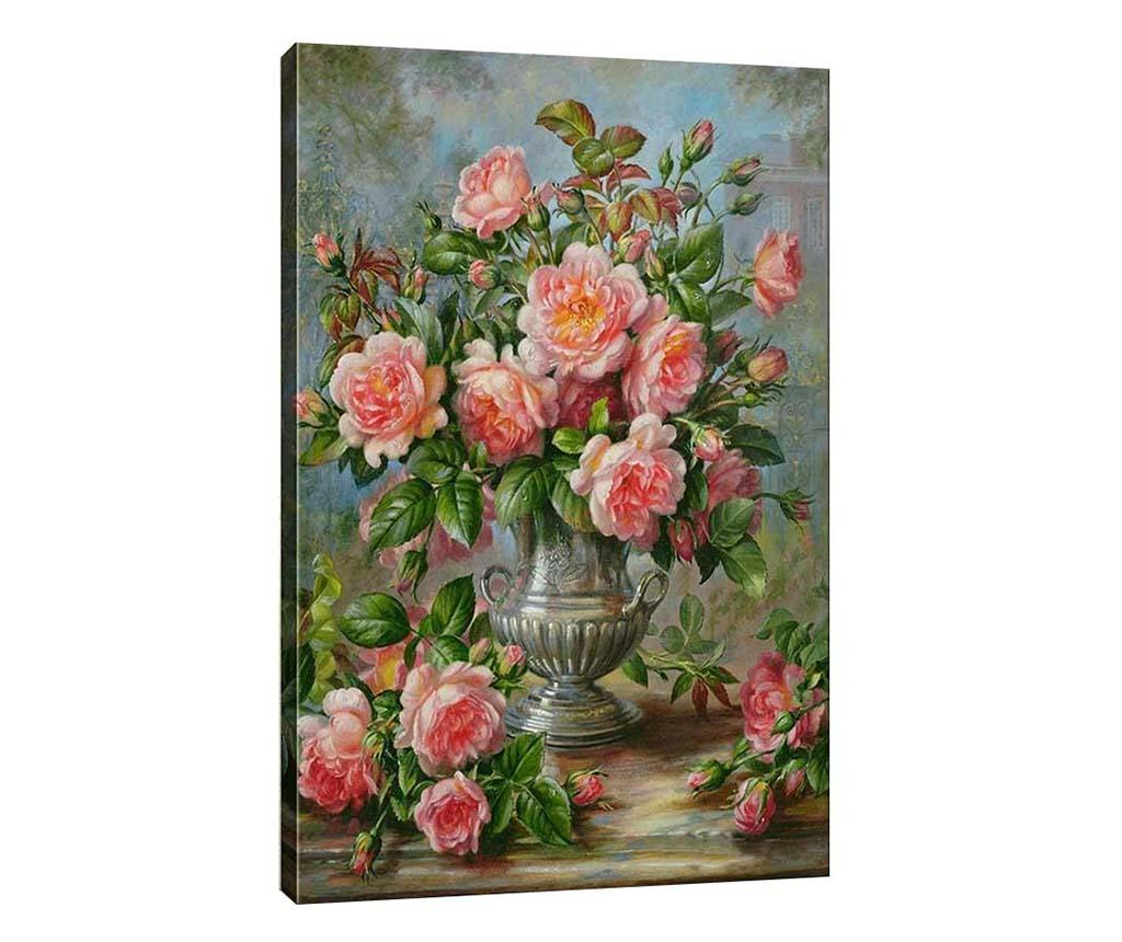 Tablou Fresh Cut Flowers 40x60 cm - Tablo Center, Gri & Argintiu,Roz imagine