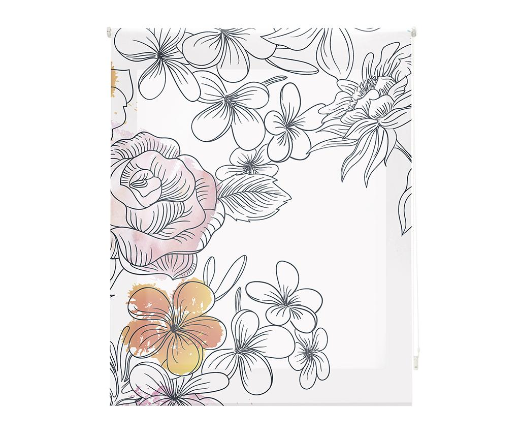 Jaluzea tip rulou Japan Blossom 120x180 cm - Blindecor, Alb imagine
