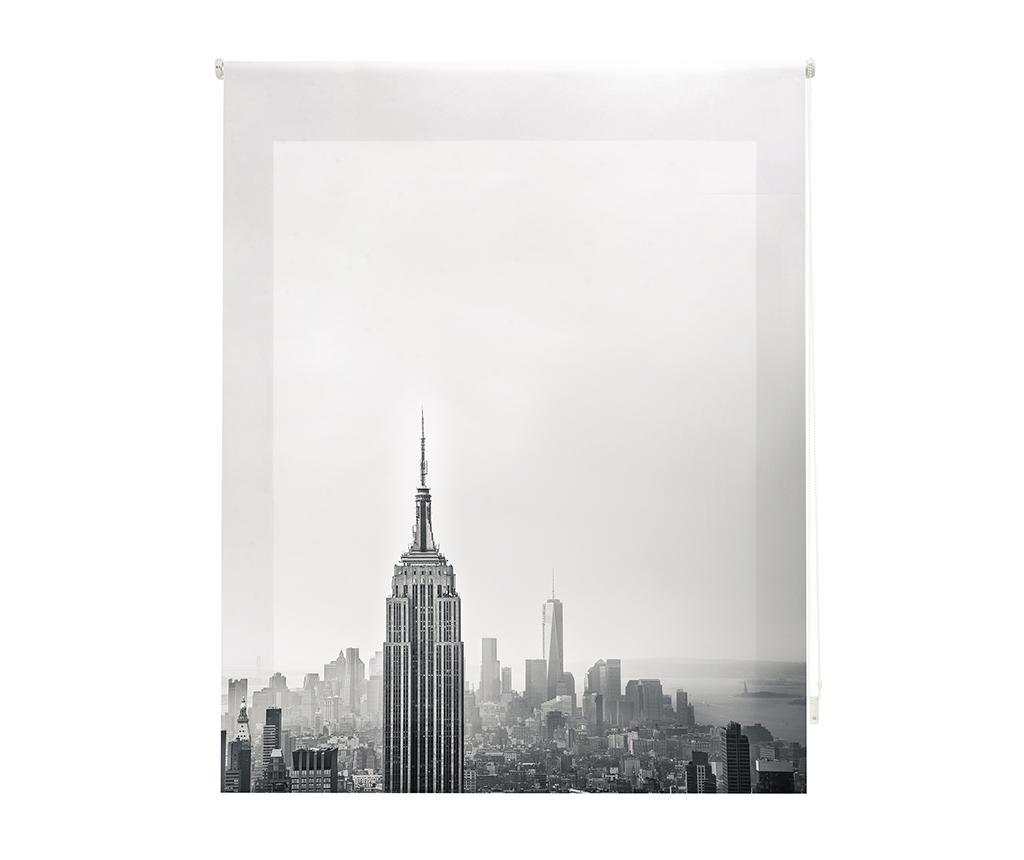 Jaluzea tip rulou New York 180x180 cm - Blindecor, Gri & Argintiu imagine