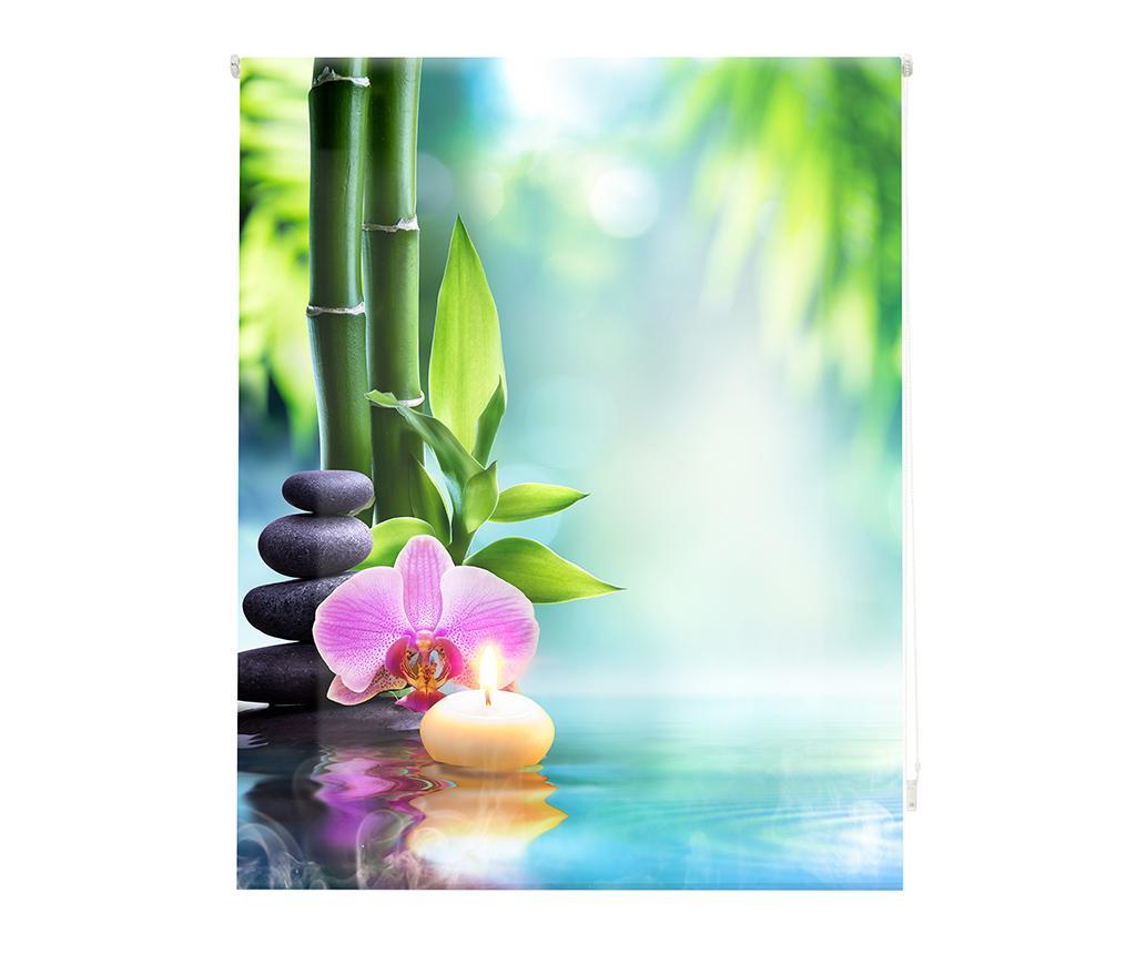 Jaluzea tip rulou Oasis 180x180 cm - Blindecor, Albastru,Multicolor imagine
