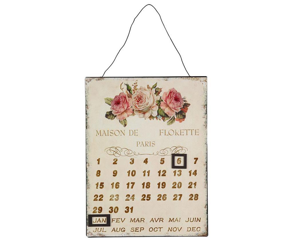 Calendar de perete Rose - Ambiente Haus, Crem imagine