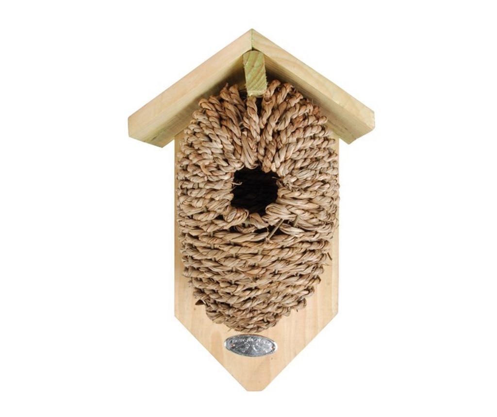 Casuta pentru pasari Lovely Home - Esschert Design, Crem