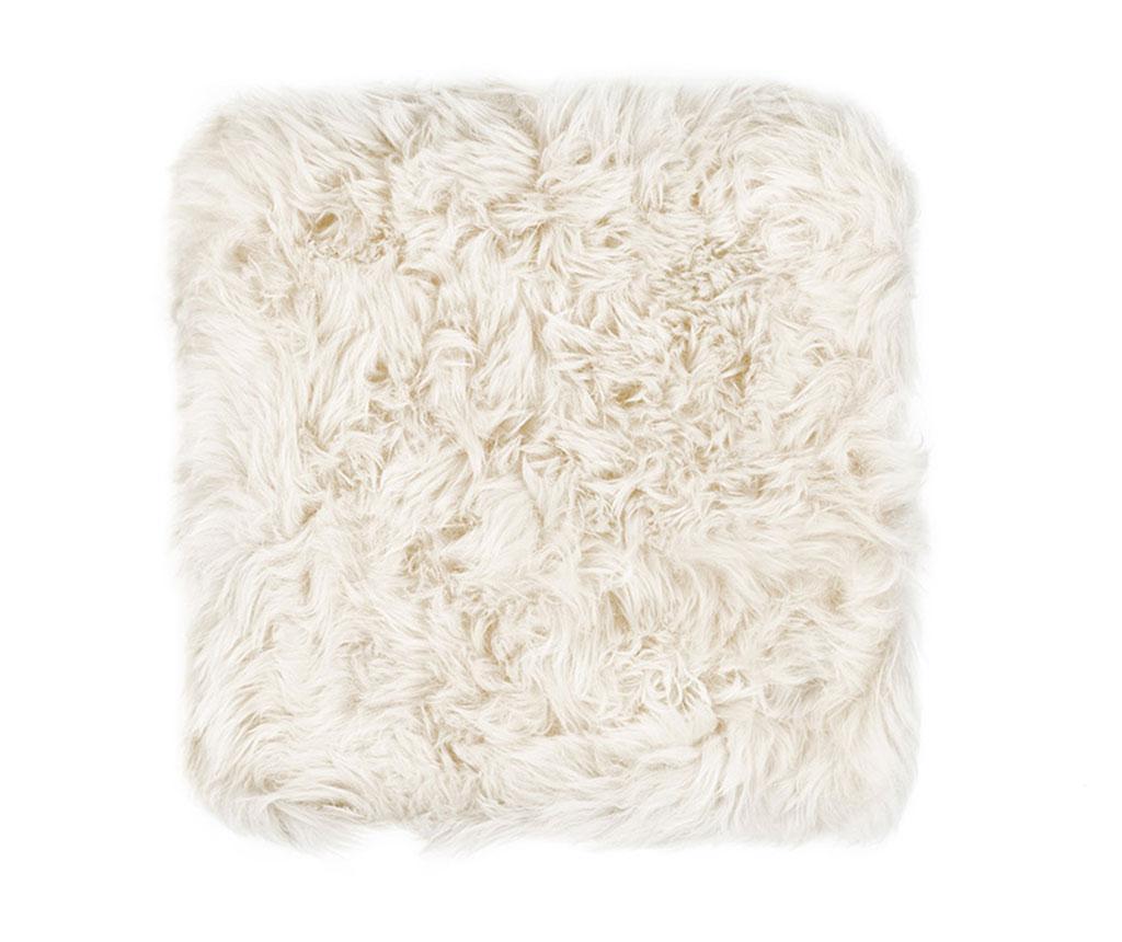 Perna de sezut Fluffy White 40x40 cm - Royal Dream, Alb