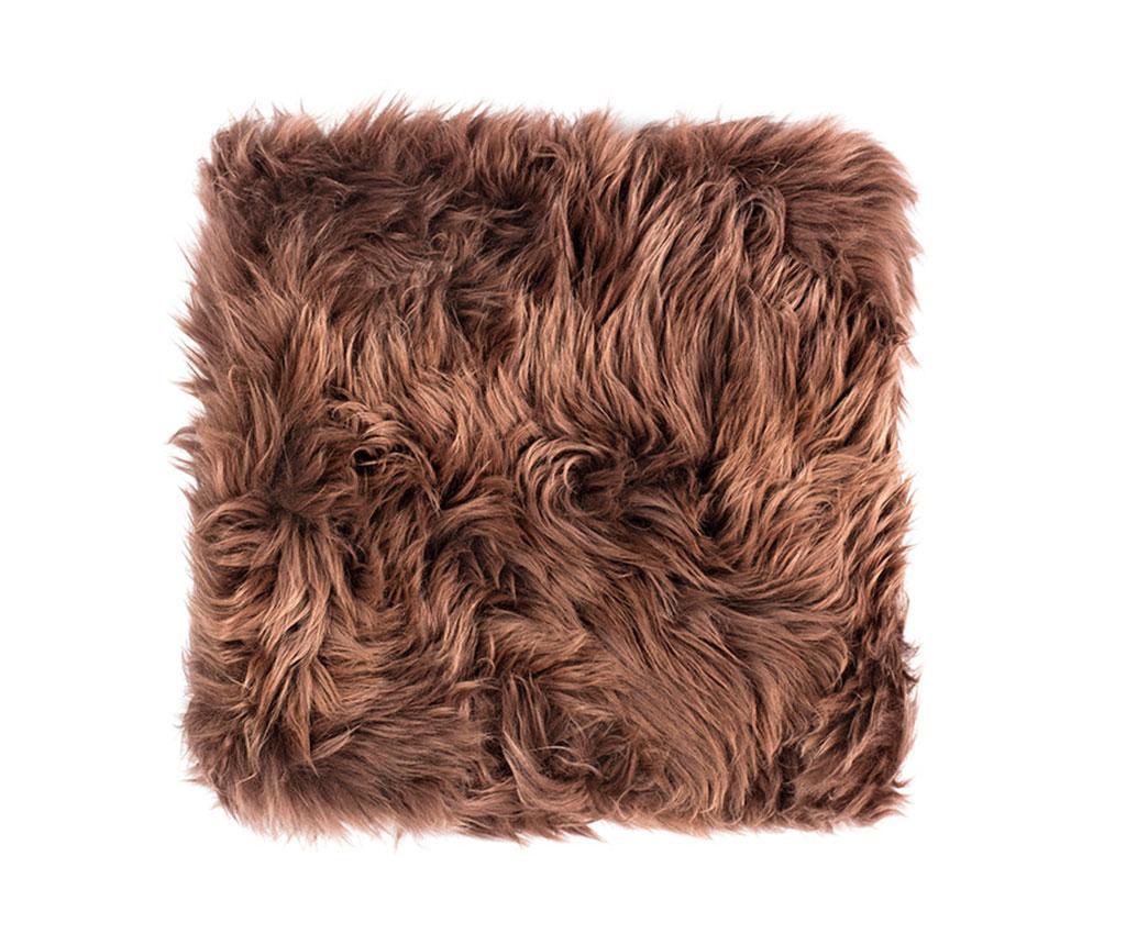 Perna de sezut Fluffy Brown 40x40 cm - Royal Dream, Maro