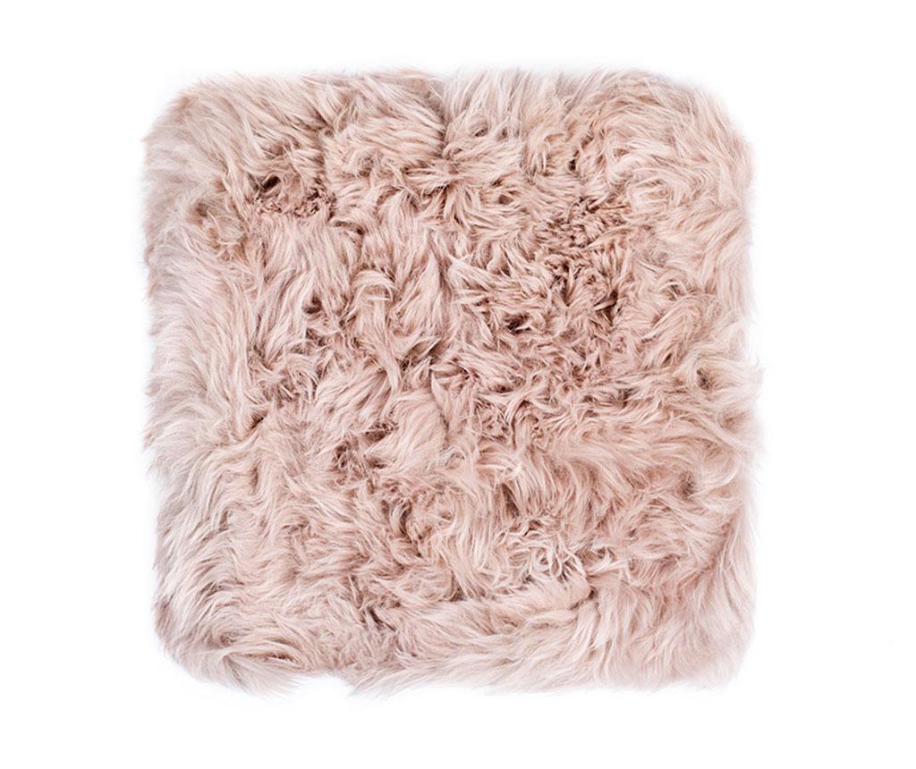 Perna de sezut Fluffy Light Brown 40x40 cm - Royal Dream, Maro