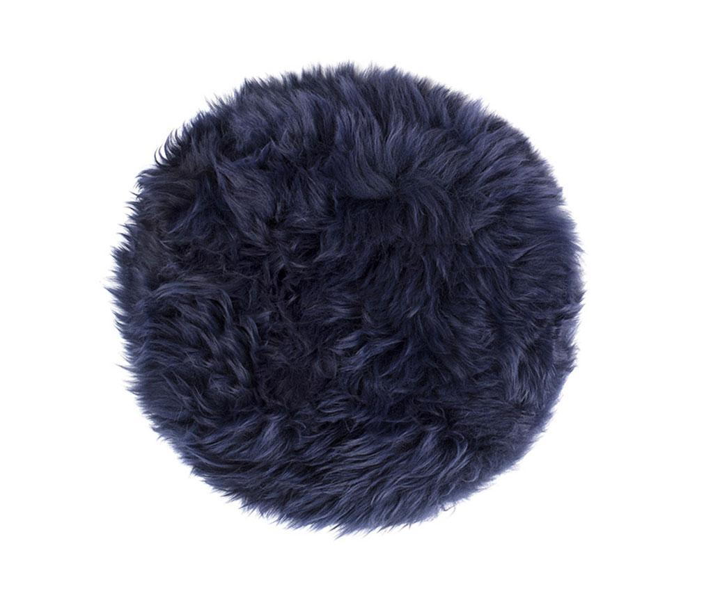 Perna de sezut Fluffy Round Blue 35 cm - Royal Dream, Albastru