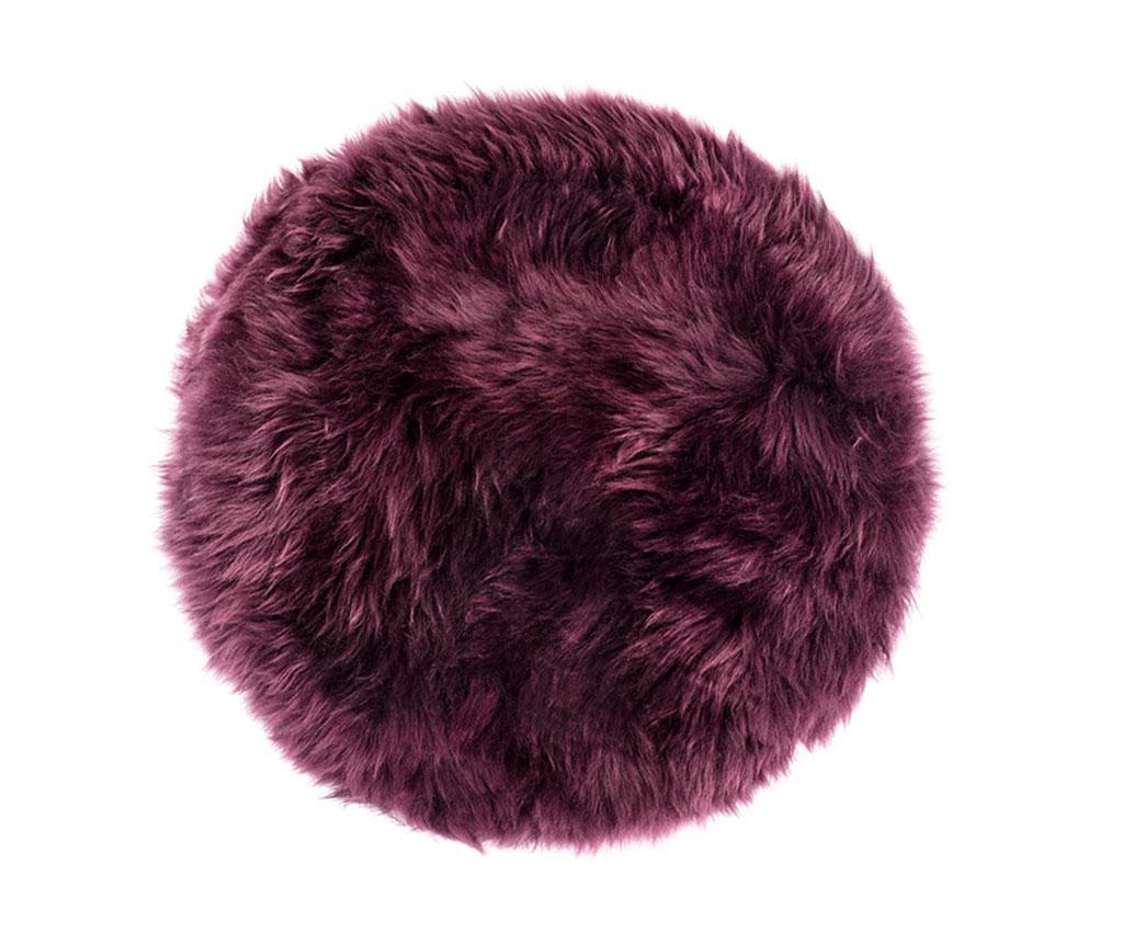 Perna de sezut Fluffy Round Plum 35 cm - Royal Dream, Mov