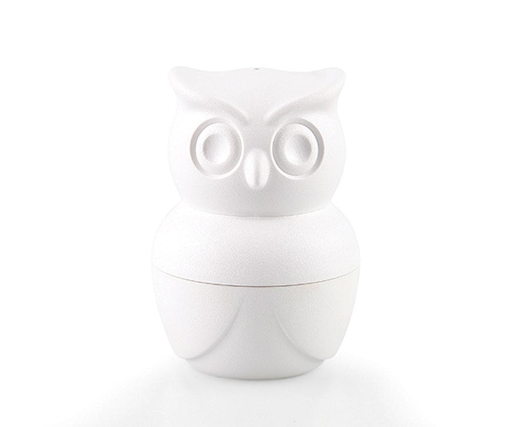 Set solnita, pipernita si suport pentru ou fiert Morning Owl White imagine