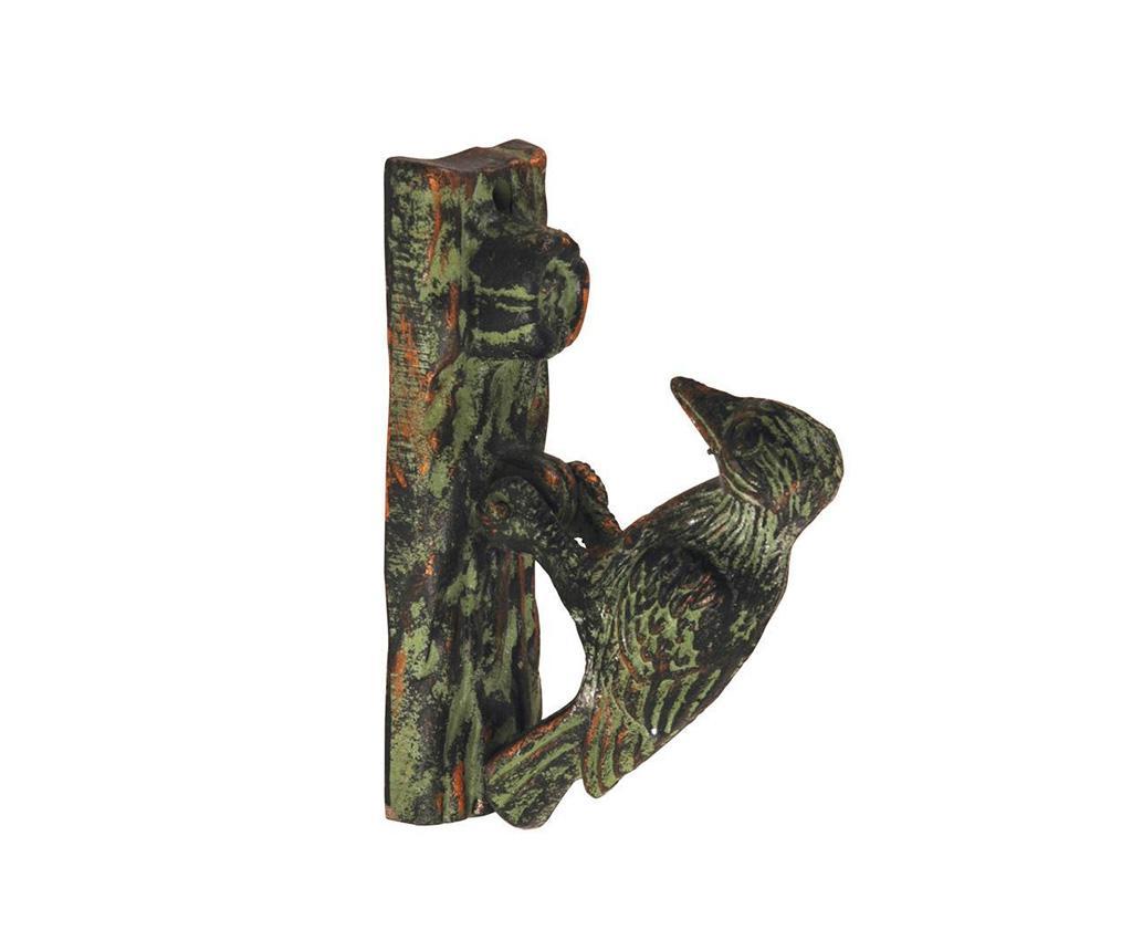 Decoratiune usa pentru ciocanit Woodpecker - Esschert Design, Maro,Verde