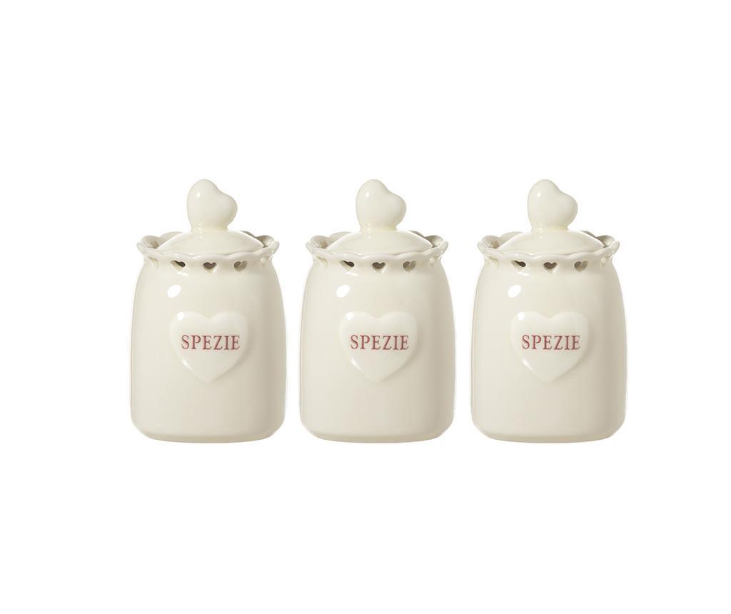 Set 3 recipiente cu capac pentru condimente Varma imagine