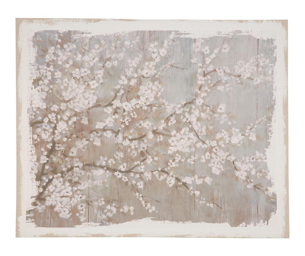 Tablou Cherry Blossom 122x152 cm - Belssia, Alb,Gri & Argintiu imagine
